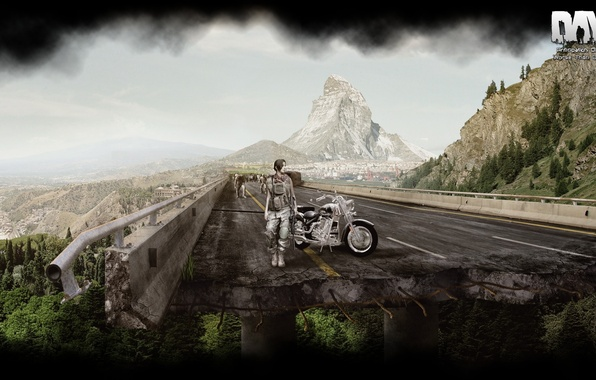 Picture girl, zombies, motorcycle, games, Alexander Malkin, DayZ