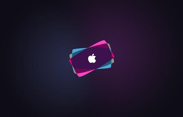 Picture apple, colorful, mac, logo, hi-tech, brand, backround