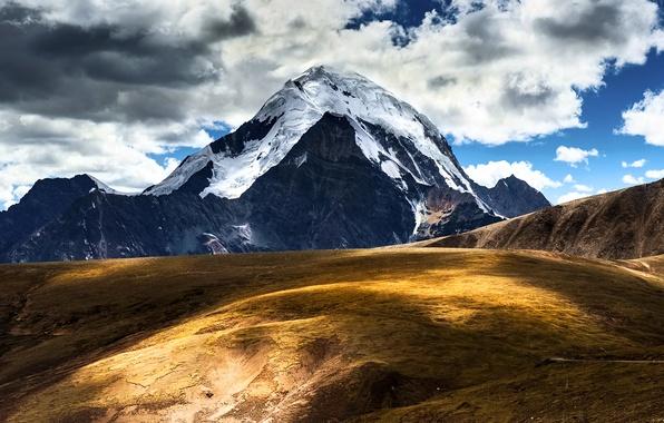 Picture the sky, clouds, mountains, China, Tibet, Tibet, Сhina
