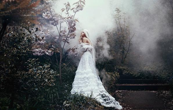 Picture girl, fantasy, dress, art, Bella Kotak