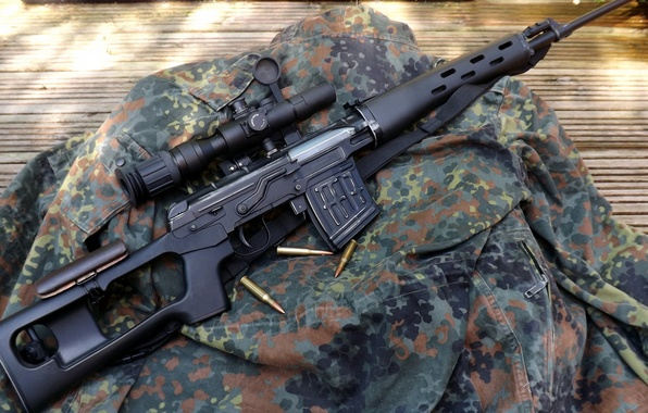 Picture jacket, camouflage, sight, rifle, sniper, Dragunov