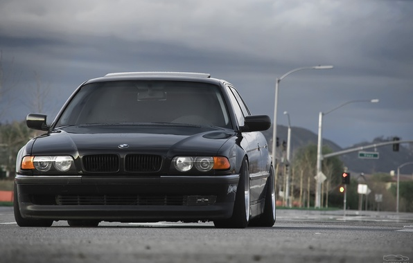 Picture road, tuning, drives, Boomer, seven, e38, bumer, bmw 740, Dylan Leff