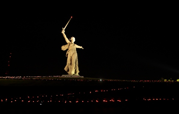 Picture Lights, Night, The city, City, USSR, USSR, Sculpture, Russia, Russia, Sculpture, Lights, Night, WWII, The …