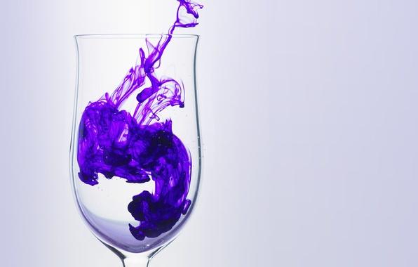 Picture purple, glass, smoke, Glass