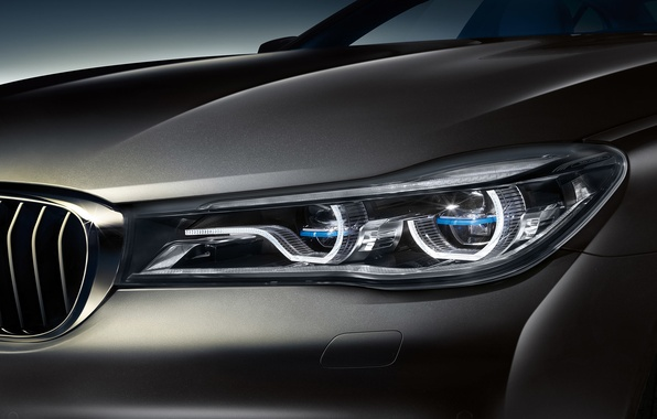 Photo wallpaper BMW, headlight, BMW, sedan, 7-Series, G12
