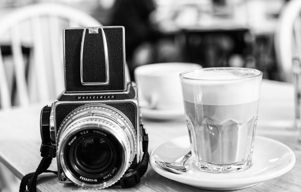 Picture glass, style, background, widescreen, Wallpaper, black and white, camera, the camera, wallpaper, glass, drink, style, …