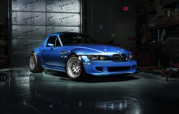 Picture BMW, BMW, before, blue, blue, z3 M