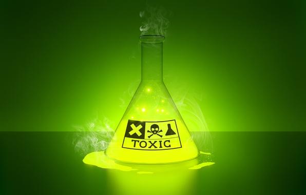 Picture toxic, glow, liquid, laboratory
