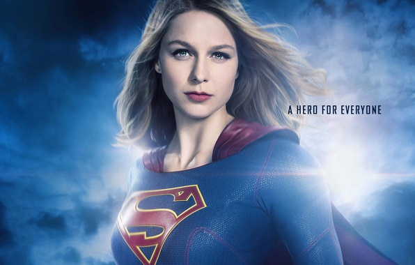 Picture girl, background, fiction, portrait, hairstyle, costume, the series, brown hair, comic, TV Series, Supergirl, Kara …