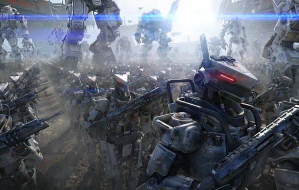 Picture metal, weapons, army, robots, Fur, Ogre, Stroy, spaceships, Electronic Arts, Atlas, Atlas, Ogre, Respawn Entertainment, …
