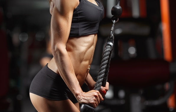 Picture muscles, female, gym, arms, abs, bodybuilder