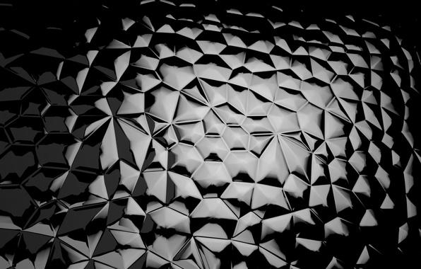 Picture glass, mosaic, black, pieces, glass, black, background, mosaic