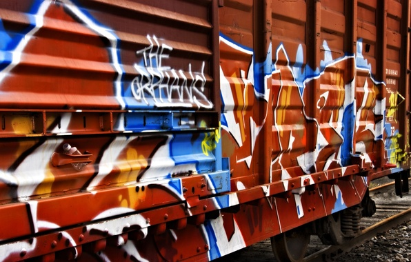 Picture graffiti, train, the car