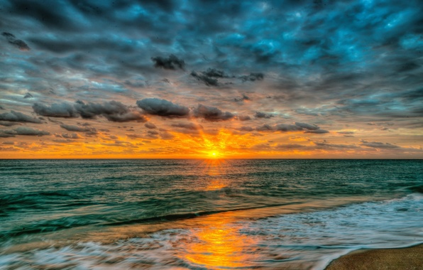 Picture sand, sea, beach, the sky, water, landscape, sunset, nature, the ocean, beach, sky, sea, ocean, …