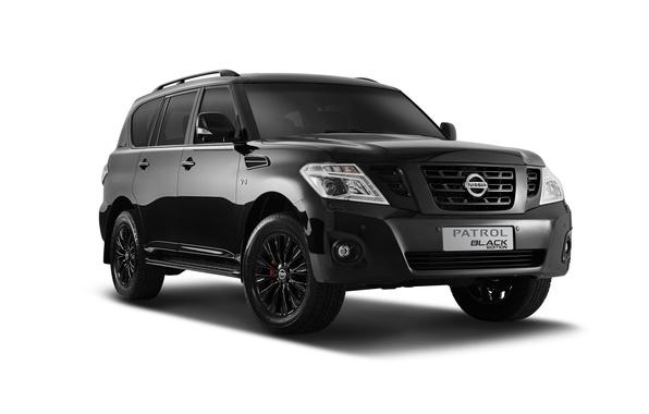 Picture black, white background, Nissan, Black, Nissan, Patrol, patrol