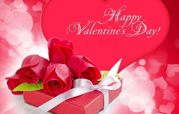 Picture photo, Flowers, Heart, Roses, Valentine's day, Holidays, Gifts