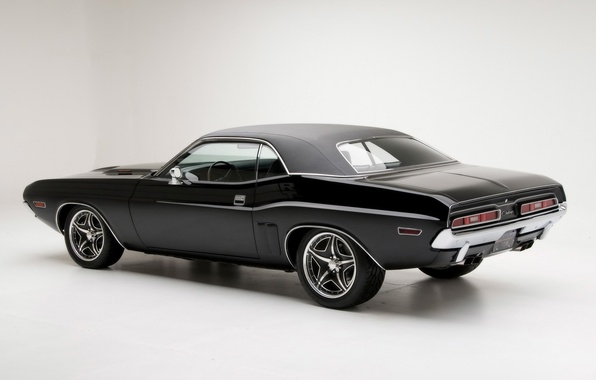 Photo wallpaper Muscle, Black, Challenger, Dodge, Challenger, Dodge, 1971, Black