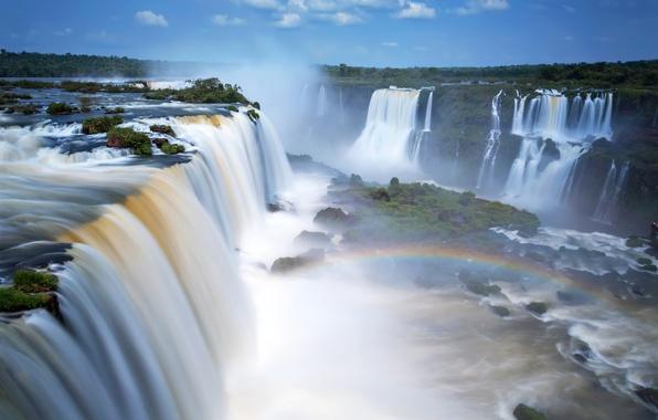 Picture waterfall, Argentina, Iguazu Falls