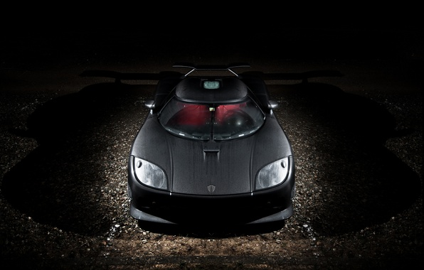 Picture night, Koenigsegg, before, supercar, carbon, supercar, night, front, carbon, CCXR, Koenigsegg, Edition