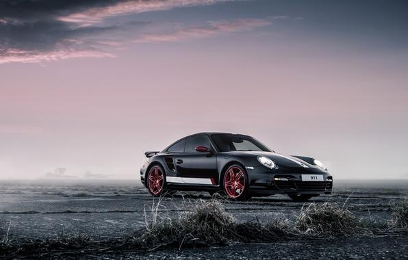 Picture car, Porsche, black, rechange, porsche 911