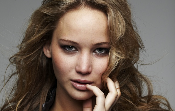 Picture look, girl, face, background, hair, actress, jacket, lips, beauty, Jennifer Lawrence, Jennifer Lawrence