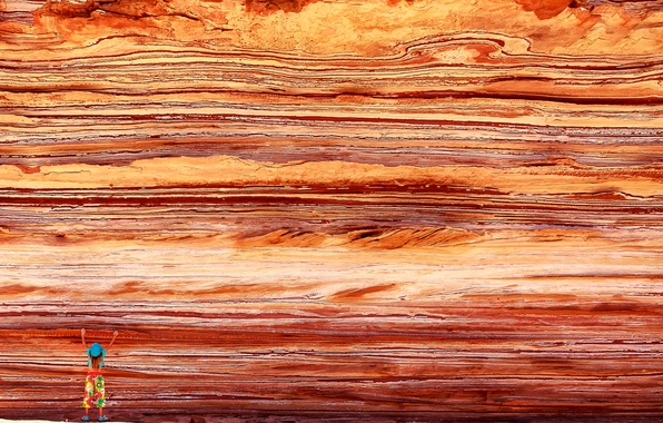 Picture texture, Australia, girl, Kalbarri