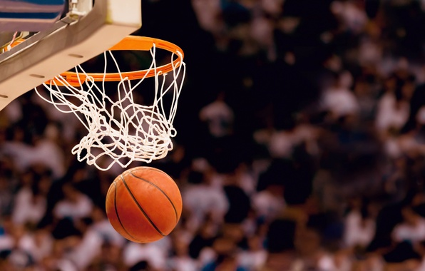 Picture basket, sport, the game, blur, ring, shield, basketball, basketball, fans, stadium, the audience, bokeh, contact, …