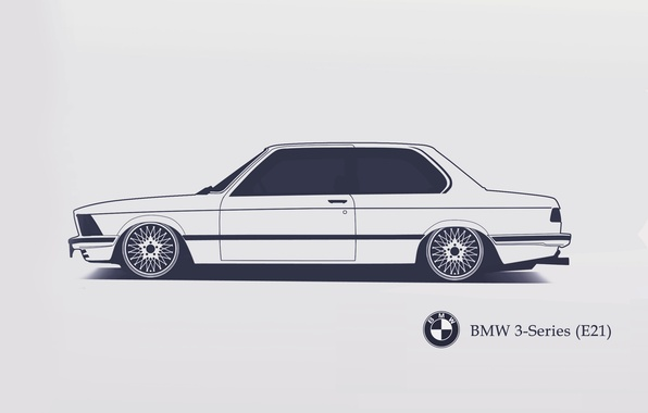 Picture BMW, E21, Minimalistic, SrCky Design, 3-Series