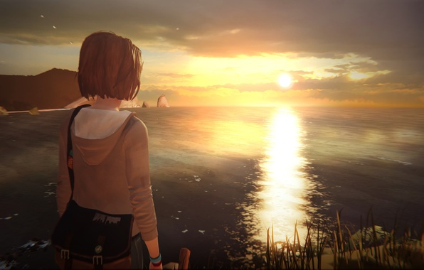 Life Is Strange 2 Wallpaper: Wallpaper Sunset, Sea, Lighthouse, Max, Life Is Strange