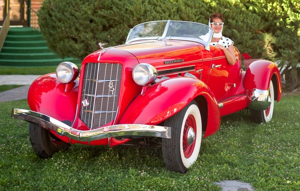 Picture retro, classic, the front, 1935, Speedster, Auburn Boattail, 851