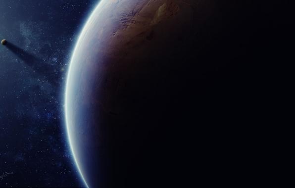 Picture dark, planet, mystery, Sci fi