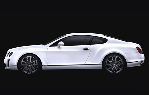 Picture Bentley, Continental, White, Machine, Bentley, Coupe, Side view
