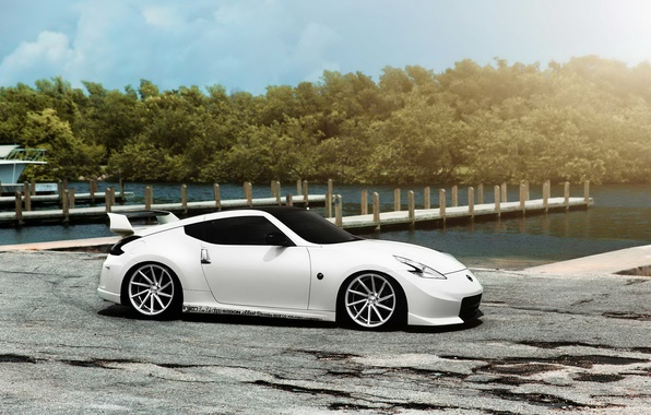 Picture car, tuning, white, promenade, Nissan, tuning, rechange, Nissan 370Z