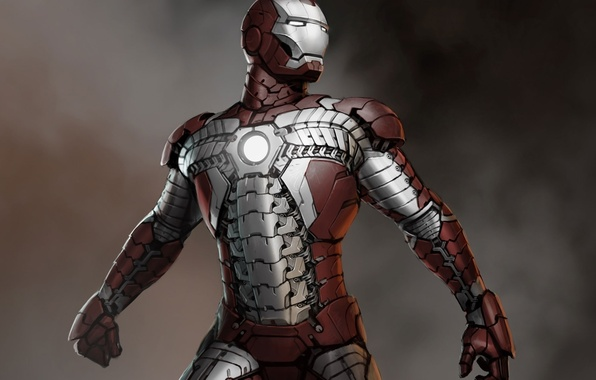 Picture iron man, artwork, concept art, marvel comics