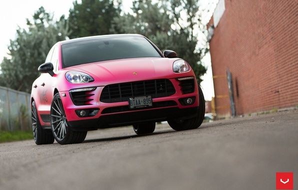Picture machine, auto, Porsche, Porsche, wheels, drives, auto, Macan, Vossen Wheels