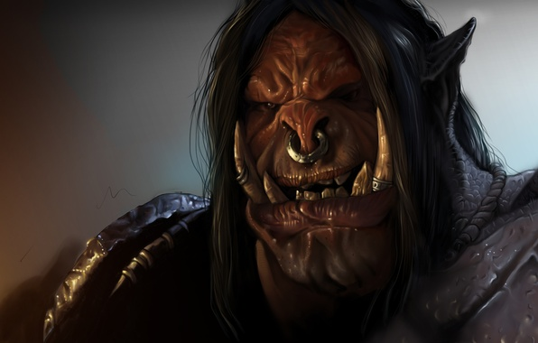 Picture world of warcraft, dlc, orc, Grommash, warlords of draenor, Grommash Hellscream, Grommash