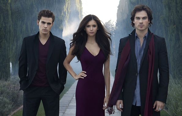 Picture the vampire diaries, stefan, damon, the vampire diaries, elena