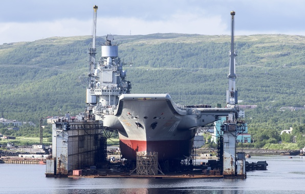 "Picture Doc, repair, cruiser, heavy, aircraft carrier, ""Admiral Kuznetsov"""