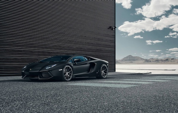 Picture Lamborghini, Black, LP700-4, Aventador, Performance, Supercar, Wheels, HRE