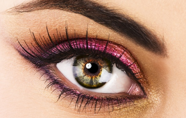 Picture look, macro, eyes, eyelashes, makeup, the pupil, mascara, shadows, Beautiful eye