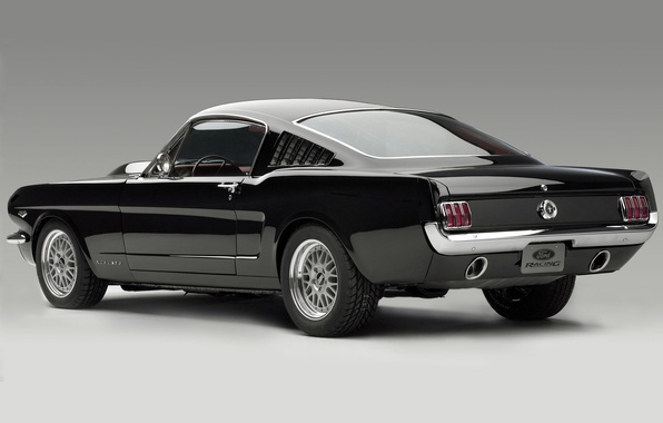 Picture Concept, background, black, Mustang, Mustang, the concept, ford, muscle car, Ford, rear view, Fastback, Muscle …