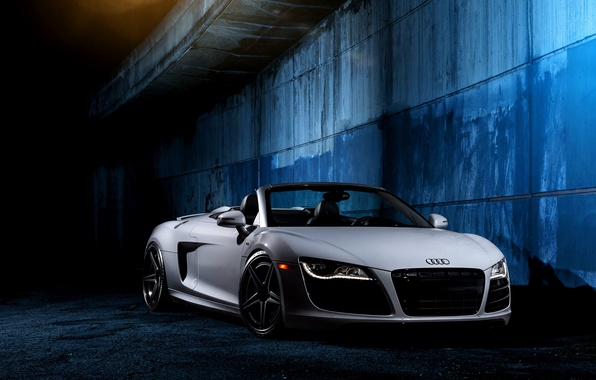 Picture white, wall, Audi, Audi, white, front, V10