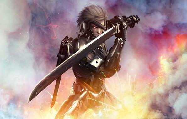Picture sword, wallpaper, male, Metal Gear, Raiden, Rising, Revengeance, Raiden, cybernetic ninja, Katana, cybernetic ninja, Jack …