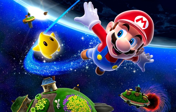 Picture Space, Star, Super Mario