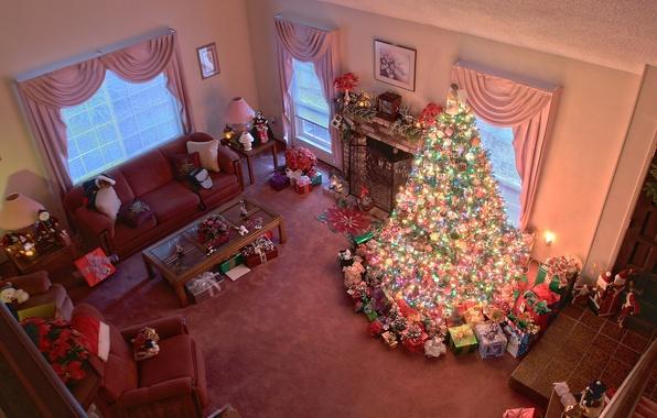 Как можно украсить комнату к новому году своими руками