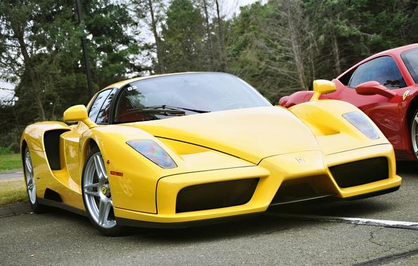 Picture yellow, color, Ferrari, Enzo