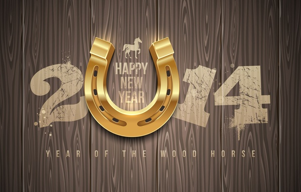 Photo wallpaper happy new year, Happy New year, 2014, 2014, year of the wood horse, the year ...