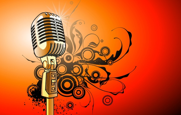 Picture vector, microphone, sounds