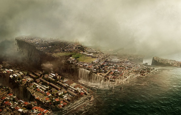 Picture the sky, the city, Apocalypse, the building, flood, destruction, panorama, the end of the world, …
