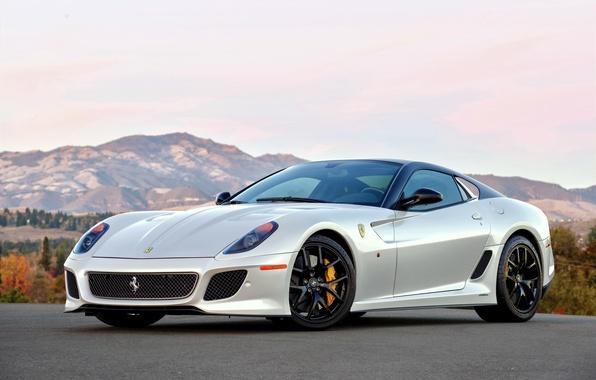 Picture white, Ferrari, supercar, Ferrari, 599, GTO